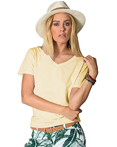 Ladies' 4.8 oz. Cotton Short-Sleeve V-Neck T-Shirt